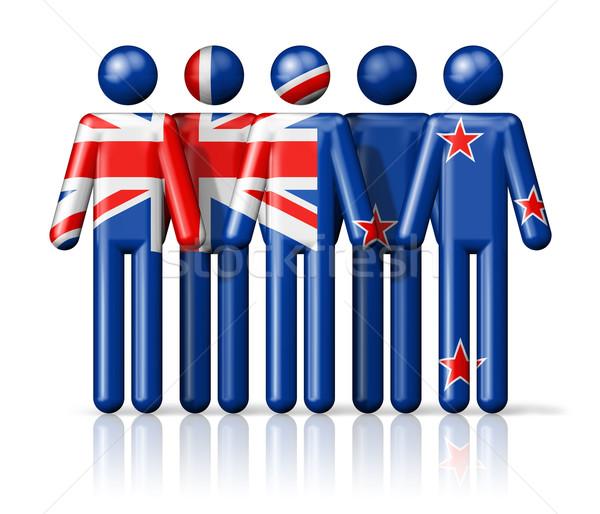 Bandeira Nova Zelândia social comunidade símbolo Foto stock © daboost