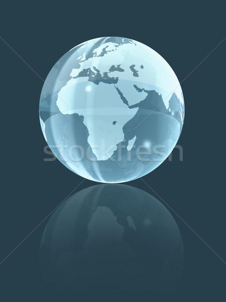 3D world glass globe Stock photo © daboost