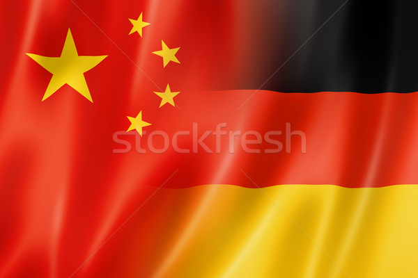 China Alemania bandera mixto tridimensional hacer Foto stock © daboost