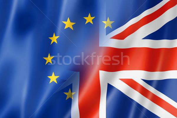 Европа флаг смешанный оказывать иллюстрация Сток-фото © daboost