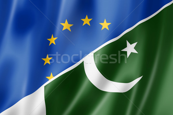 Европа Пакистан флаг смешанный оказывать Сток-фото © daboost