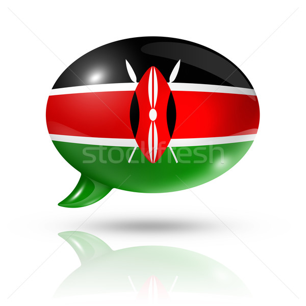 Kenyan flag speech bubble Stock photo © daboost