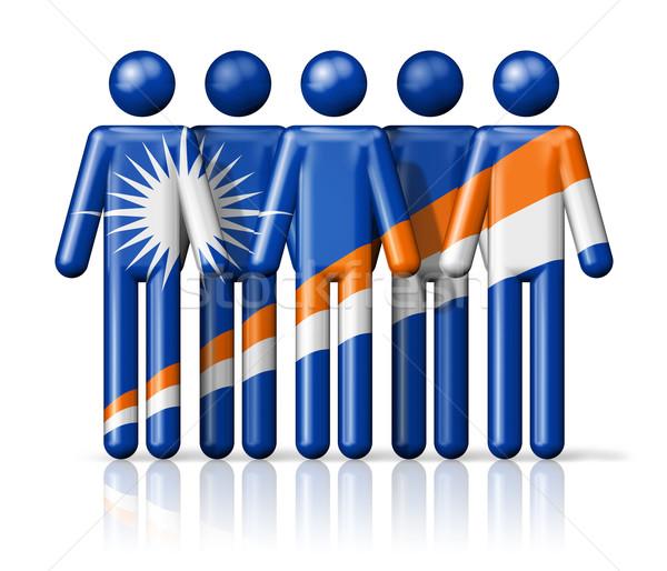 Bandera social comunidad símbolo Foto stock © daboost