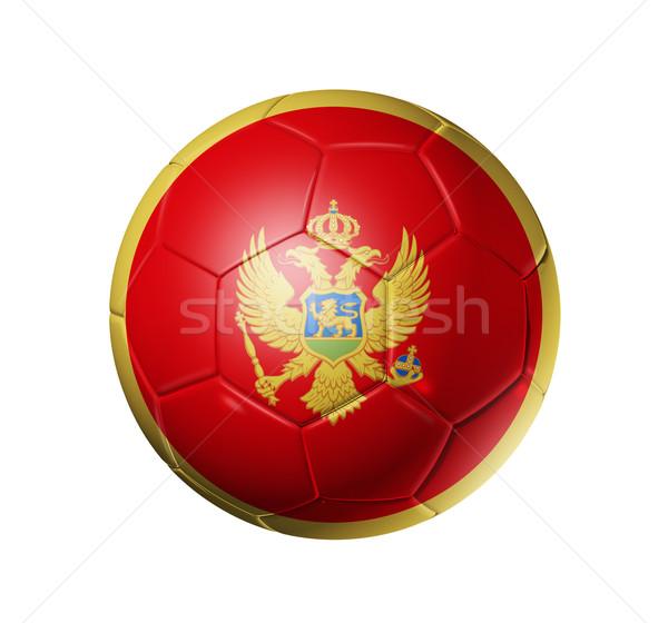 サッカー サッカー ボール モンテネグロ フラグ 3D ストックフォト © daboost