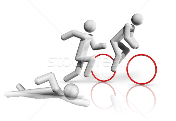 Triathlon 3D symbol Stock photo © daboost