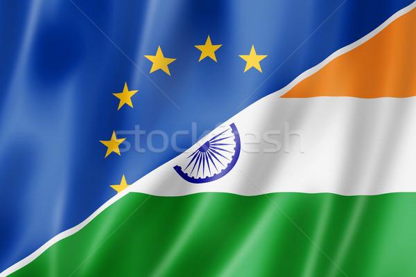 Европа Индия флаг смешанный оказывать Сток-фото © daboost