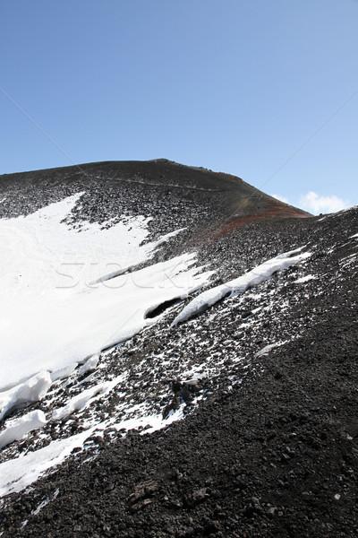 Detail vulkaan krater sicilië Italië Stockfoto © daboost