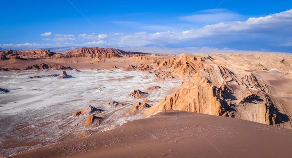 LA Chile tájkép sivatag narancs kék Stock fotó © daboost