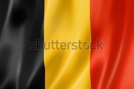 флаг Бельгия оказывать атласных текстуры Сток-фото © daboost