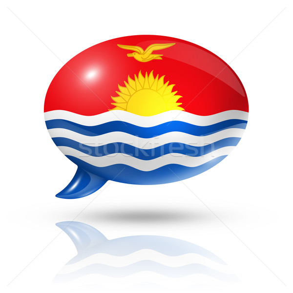 Kiribati flag speech bubble Stock photo © daboost