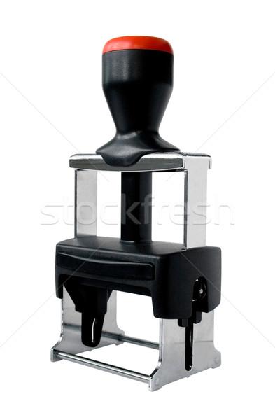 Pecsét modern műanyag fém iroda felirat Stock fotó © daboost