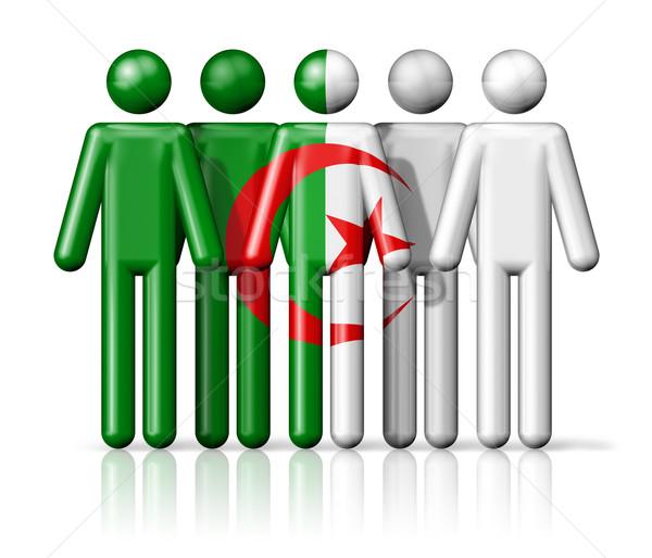 Pavillon Algérie sociale communauté symbole Photo stock © daboost