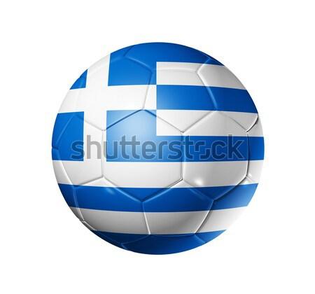 Voetbal voetbal bal Griekenland vlag 3D Stockfoto © daboost