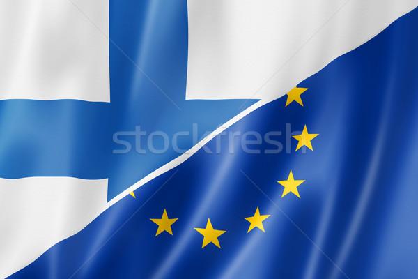 Finland Europa vlag gemengd europese unie Stockfoto © daboost