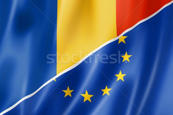Romania and Europe flag Stock photo © daboost