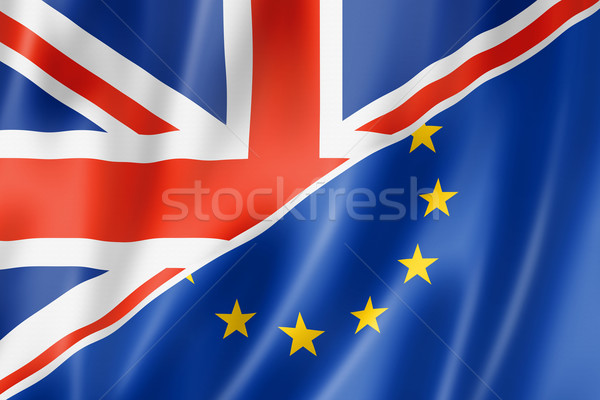 UK and Europe flag Stock photo © daboost