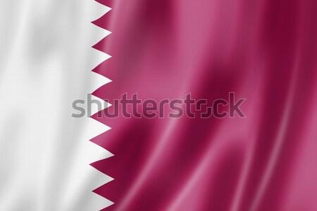 Qatar flag Stock photo © daboost