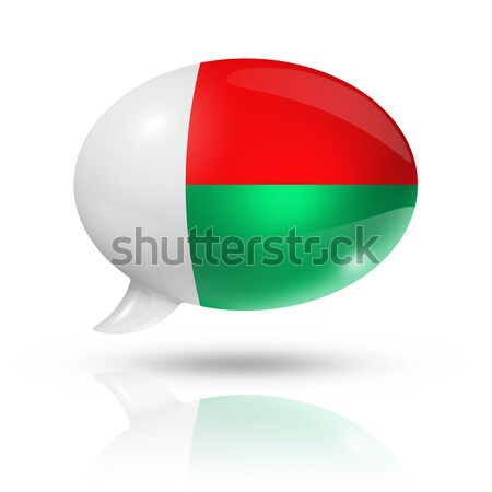 Madagascar flag speech bubble Stock photo © daboost
