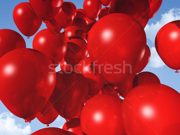 Rojo globos cielo azul aire cielo Foto stock © daboost
