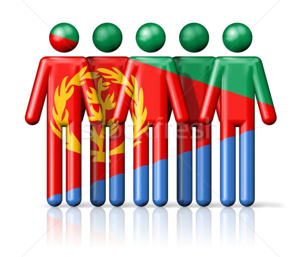 Flag of Eritrea on stick figure Stock photo © daboost