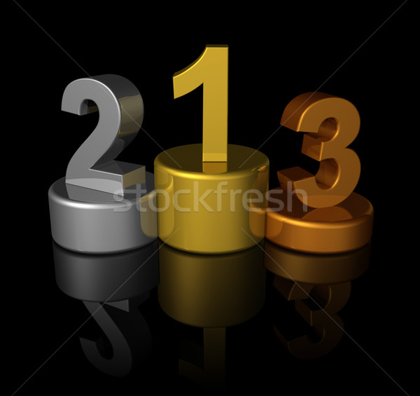 3D winners number podium Stock photo © daboost