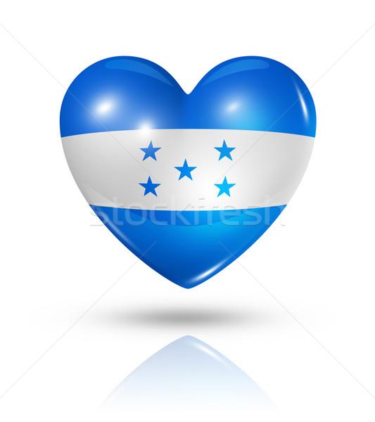 Amor Honduras coração bandeira ícone símbolo Foto stock © daboost