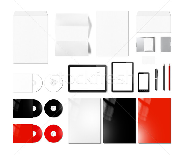 Branding identity design mockup template, white background Stock photo © daboost