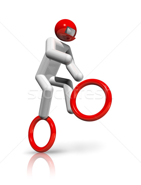 Cycling BMX 3D symbol Stock photo © daboost