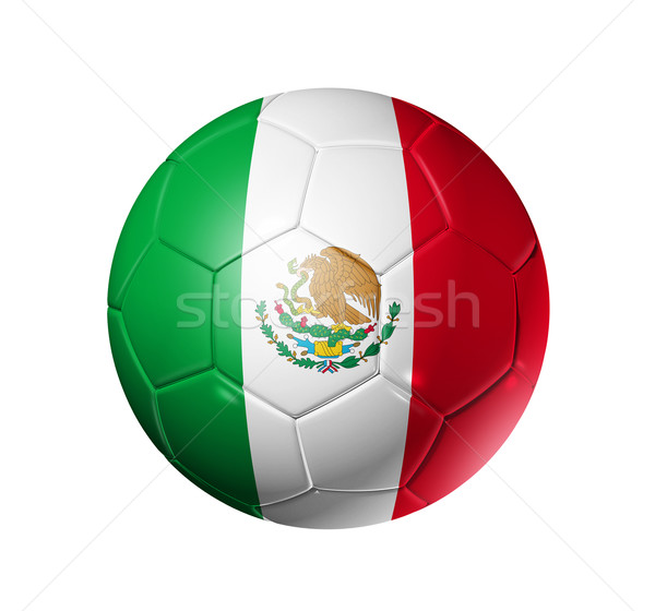 Voetbal voetbal bal Mexico vlag 3D Stockfoto © daboost