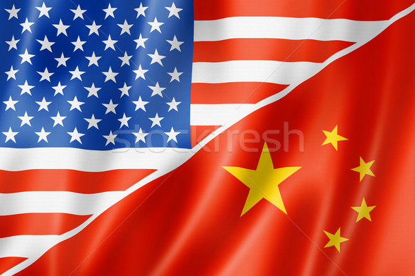 USA and China flag Stock photo © daboost