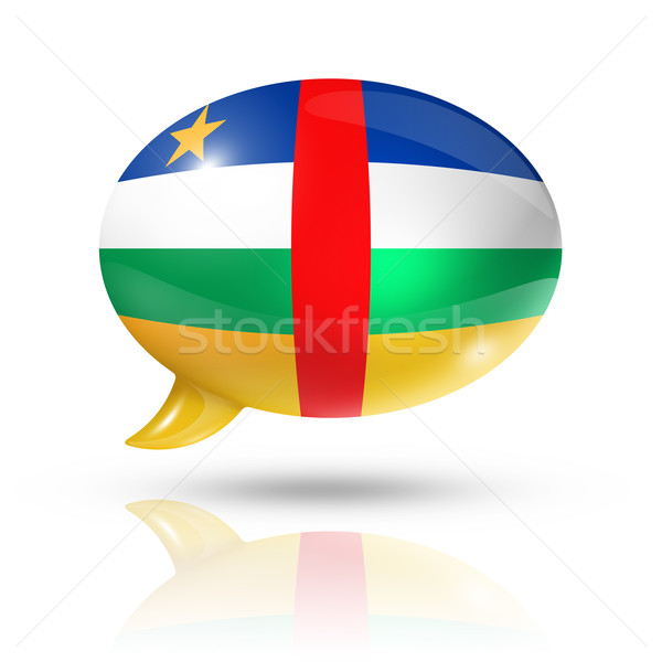 Central African Republic flag speech bubble Stock photo © daboost