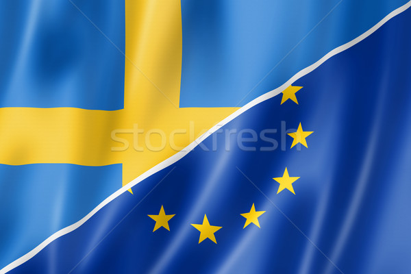 Sweden and Europe flag Stock photo © daboost