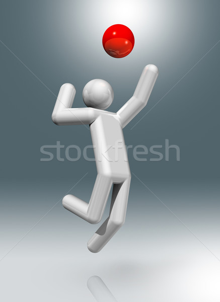Volleyball 3D symbol, Olympic sports Stock photo © daboost