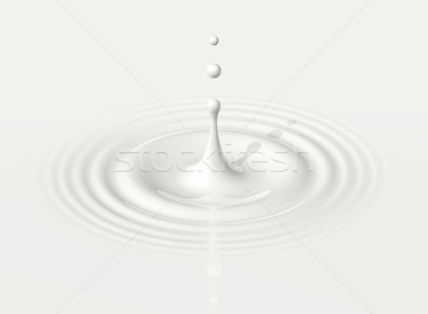 Drop melk rimpeling 3d illustration Stockfoto © daboost