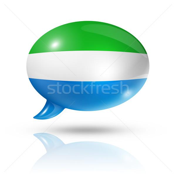 Sierra Leone flag speech bubble Stock photo © daboost