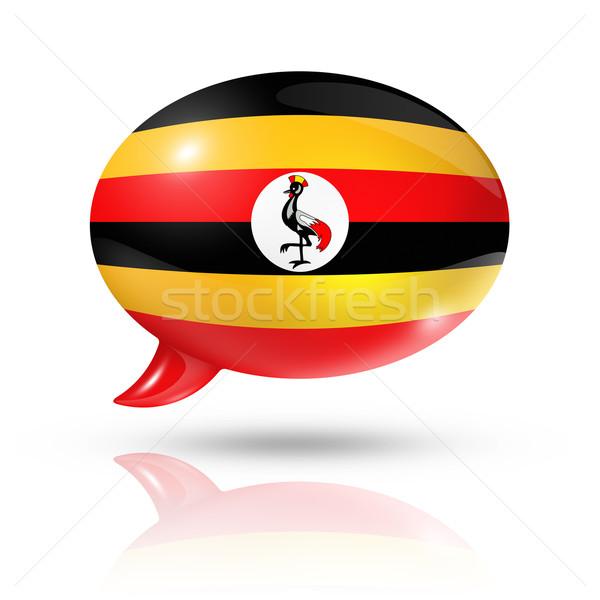 Ugandan flag speech bubble Stock photo © daboost
