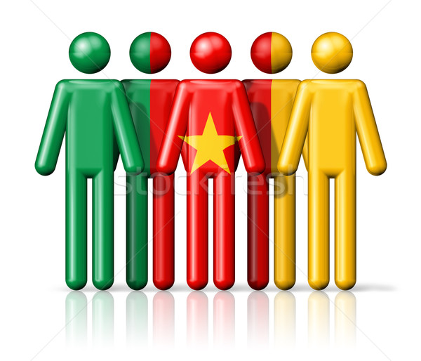 Bandeira Camarões social comunidade símbolo Foto stock © daboost