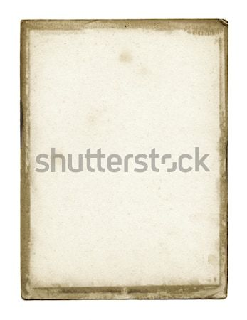 Foto stock: Grunge · textura · do · papel · isolado · branco · papel · textura