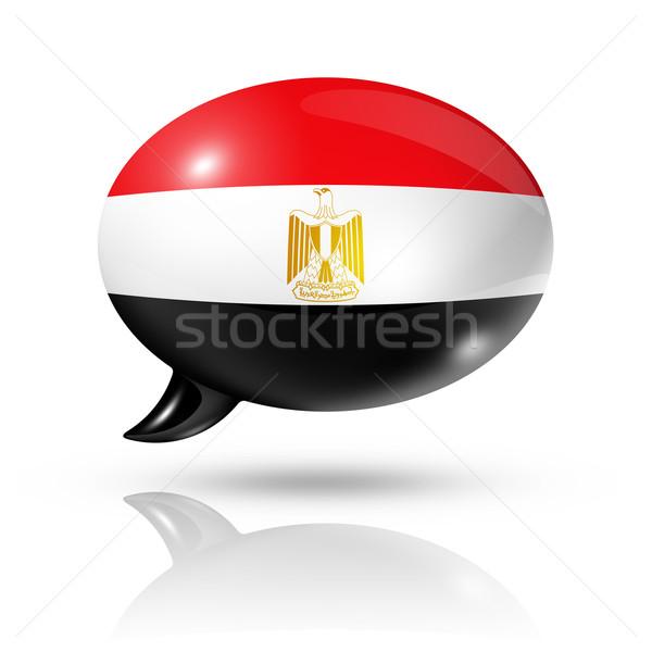 Egyptian flag speech bubble Stock photo © daboost
