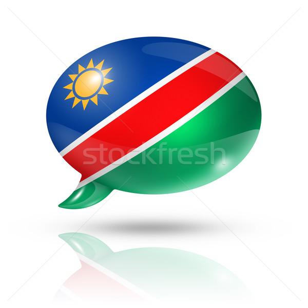 Namibian flag speech bubble Stock photo © daboost