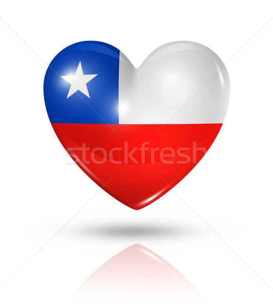 Love Chile, heart flag icon Stock photo © daboost