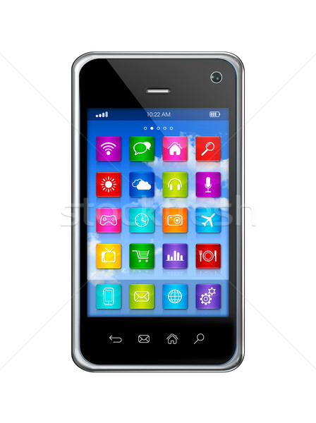 Smartphone Touchscreen HD - apps icons interface Stock photo © daboost