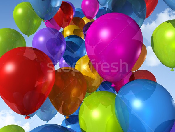 Ballons ciel bleu air ciel Photo stock © daboost