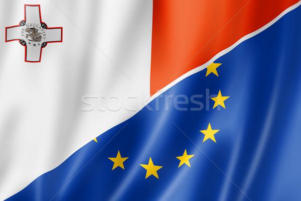 Malta and Europe flag Stock photo © daboost