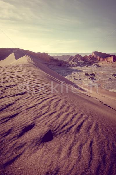 砂 ラ チリ 風景 雲 砂漠 ストックフォト © daboost
