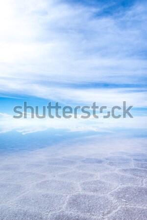 砂漠 塩 白 水 背景 青 ストックフォト © daboost