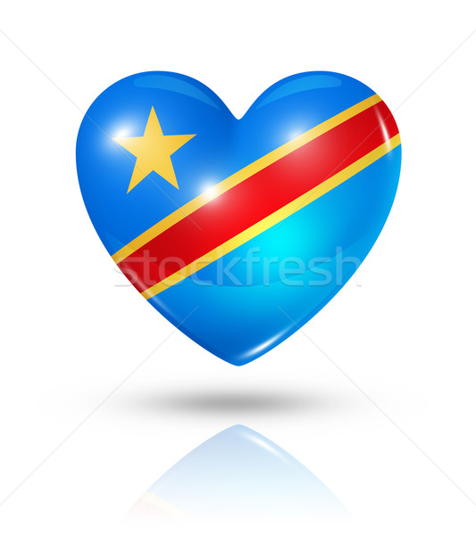 Love Democratic Republic of the Congo, heart flag icon Stock photo © daboost