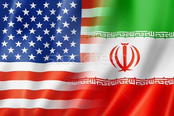 USA and Iran flag Stock photo © daboost