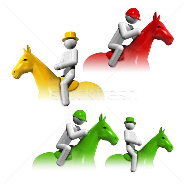 sports symbols icons series 6 Stock photo © daboost