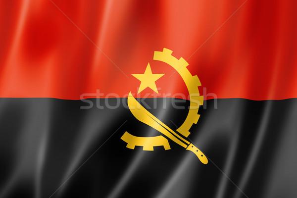 Stock photo: Angolan flag